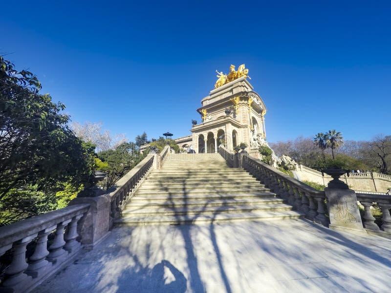 The famous Parc de la Ciutadella or Citadel Park is a park on the northeastern edge of Ciutat Vella, Barcelona, Catalonia royalty free stock photo