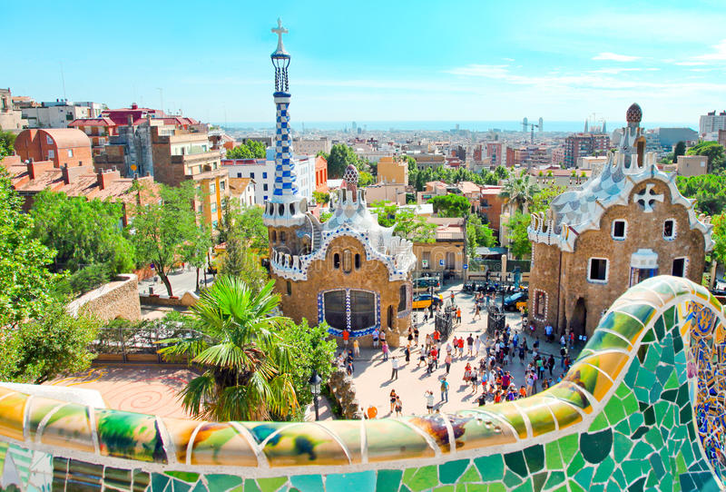 Download The Famous Park Guell In Barcelon Editorial Photo - Image: 26856461