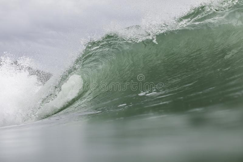 Surf at Piha Beach, NZ royalty free stock photos