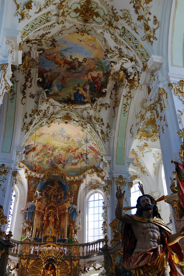 The famous pilgrimage church of Andechs monastery in Bavaria royalty free stock image