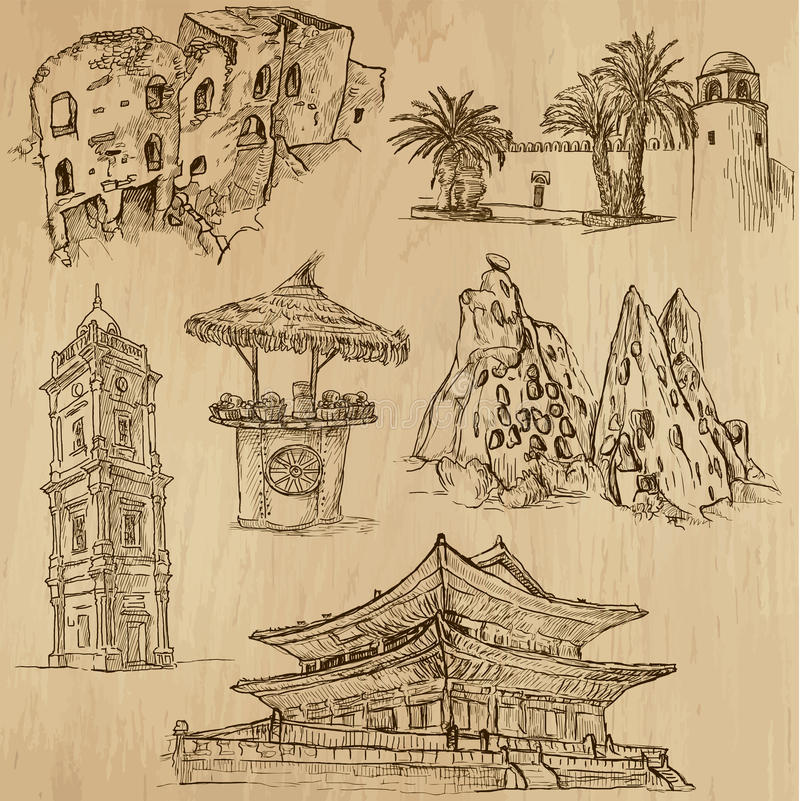 Famous places and Buildings no. 22 stock illustration
