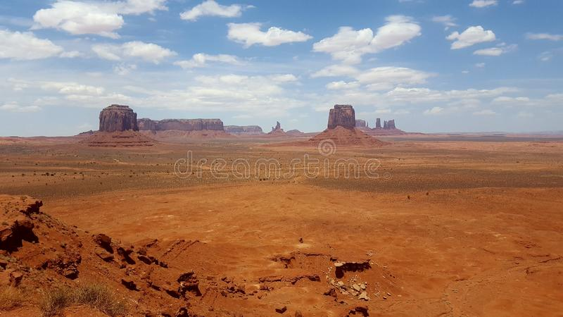 Landscapes cloudy United States Monument Valley Arizona. Famous places of United States of America USA: Panorama of Monument Valley Landscape Arizona Utah; scene stock image