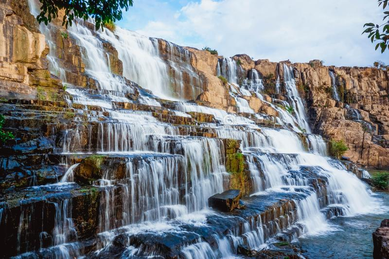 Pongour waterfall. Lam province, Vietnam. Famous Pongour waterfall. Lam province, Vietnam. South East Asia stock photography