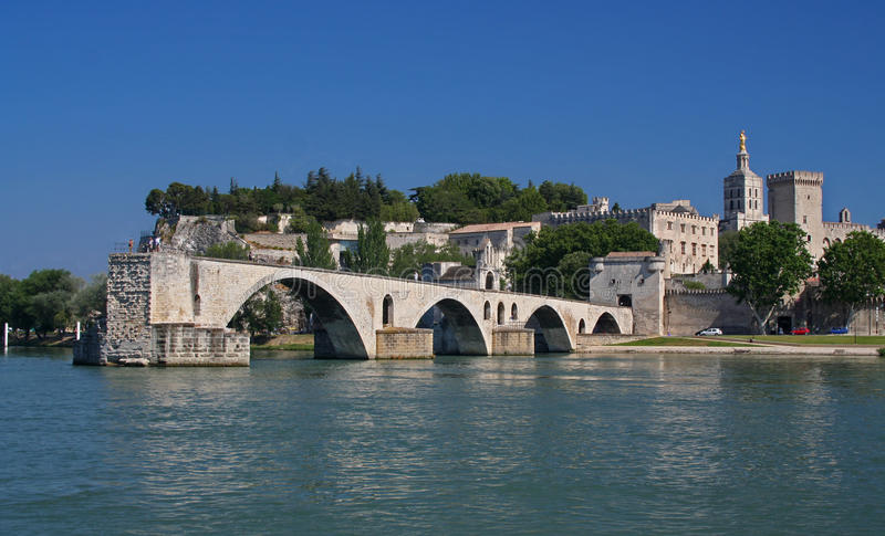 The famous Pont d'Avignon in France royalty free stock images
