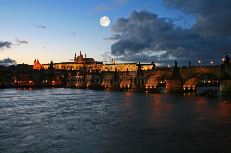 The famous Prague Castle royalty free stock photo