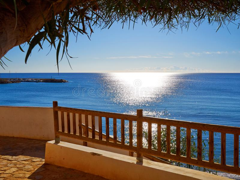 Famous promenade of Cabo Roig. Costa Blanca. Spain. Great summer travel destination royalty free stock images