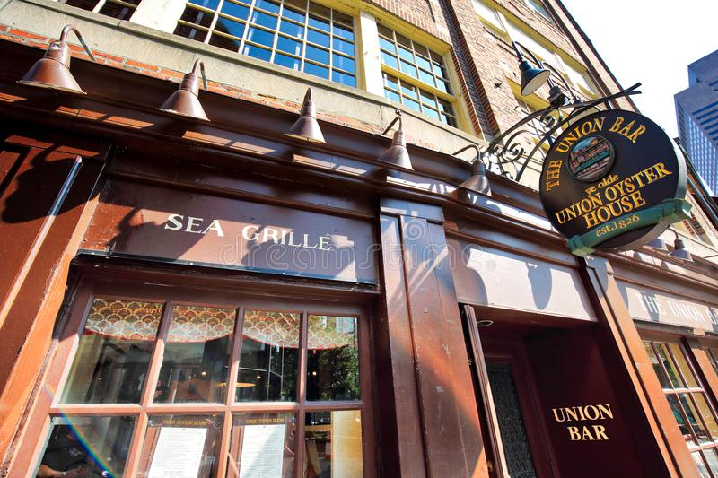 Famous pubs in Boston Harbor. And South Market royalty free stock photography