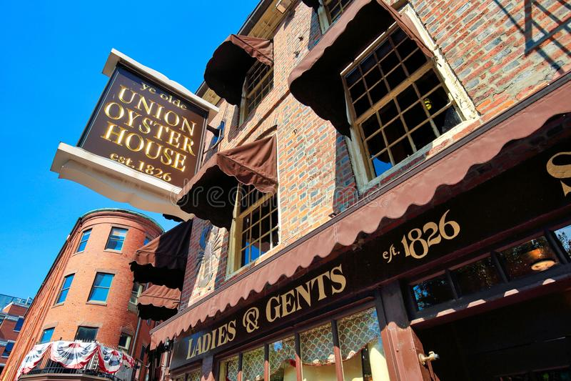 Famous pubs in Boston Harbor. And South Market stock photos