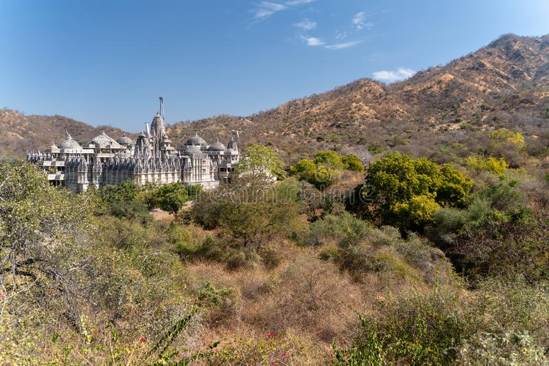The famous Ranakpur temple in Rajasthan stock photos