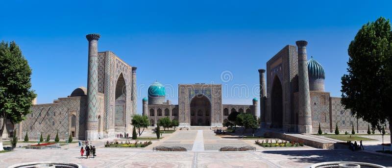 The Famous Registan Plaza of Samarkand, Uzbekistan royalty free stock photos