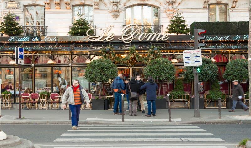 The famous restaurant Le Dome, Paris, France. royalty free stock images