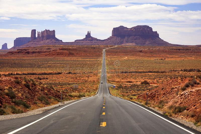 Famous road into Monument Valley, Utah, USA. royalty free stock photo