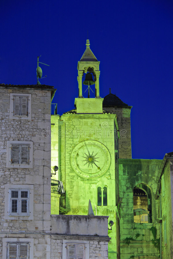 Download Famous Romanesque Tower Clock In Split Stock Photo - Image: 6661754