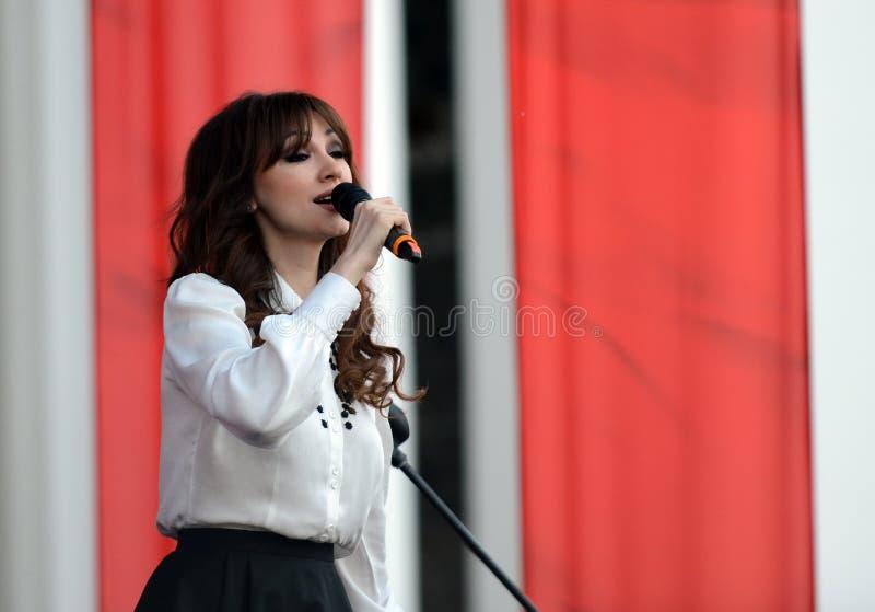Famous Russian singer Sogdiana. stock photos