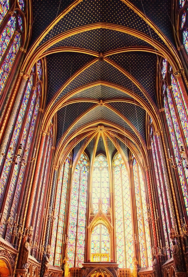 Free Famous Saint Chapelle In Paris, France Royalty Free Stock Photo - 19371955