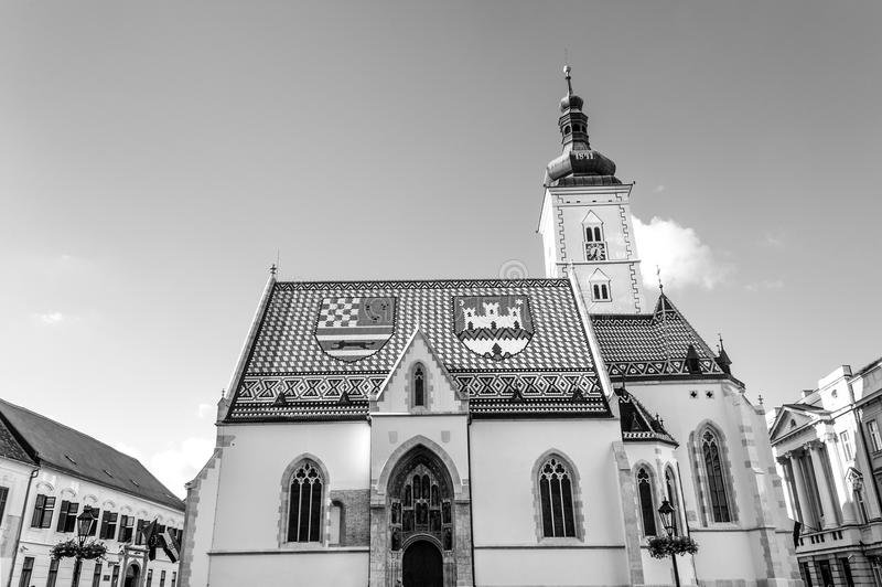 Famous Saint Mark`s church royalty free stock photography