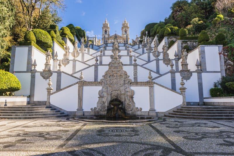 Bom Jesus do Monte sanctuary. Famous sanctuary Bom Jesus do Monte near Braga city in historical Minho Province, Portugal royalty free stock images