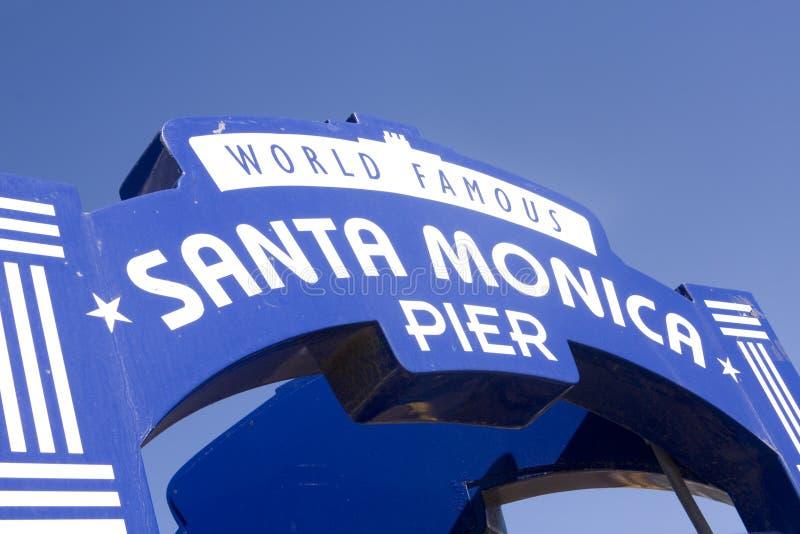 Download Famous Santa Monica Pier Sign Stock Photo - Image: 13942482