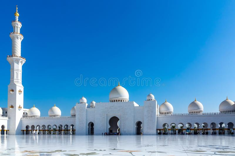 Famous Sheikh Zayed grand mosque in Abu Dhabi, United Arab Emirates stock images
