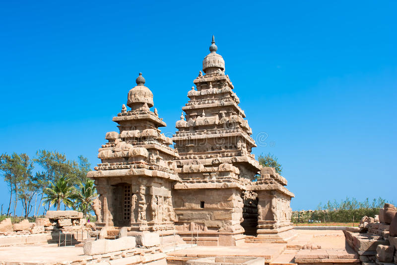 Famous Shore Temple At Mamallapuram Royalty Free Stock Image
