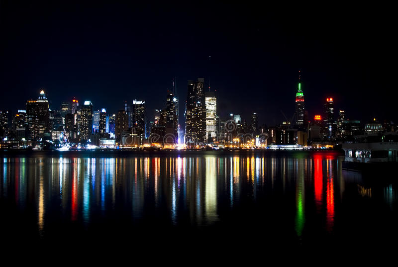 Download The Famous Skyline Of New York City From Jersey Stock Image - Image: 12628279