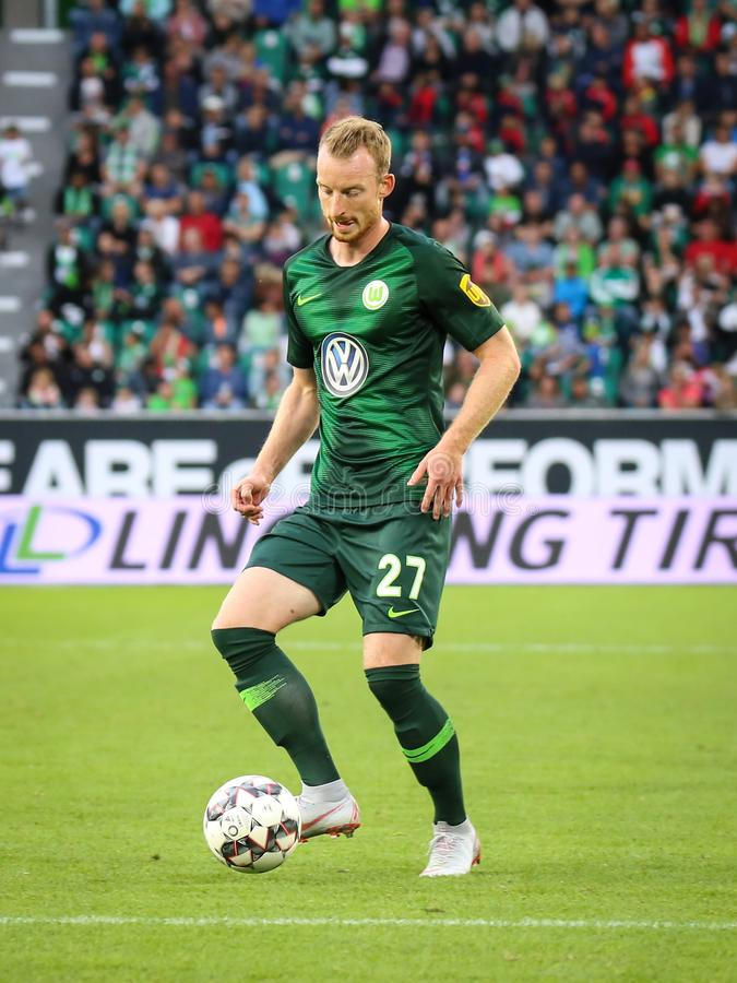Famous soccer player Maximilian Arnold royalty free stock photography