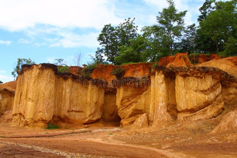 Famous soil erosion royalty free stock image