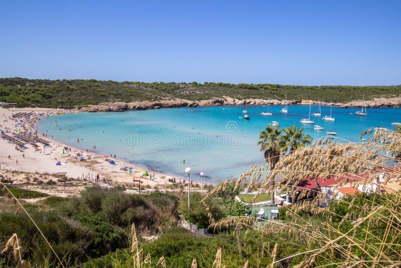 Son Parc beach in Menorca, Spain. Famous Son Parc beach on balearic island Menorca, Spain stock photography