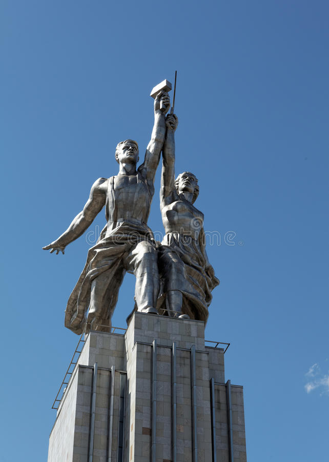 Free Famous Soviet Monument: Laborer And Kolkhoznik, Moscow, Russia Royalty Free Stock Images - 98369959