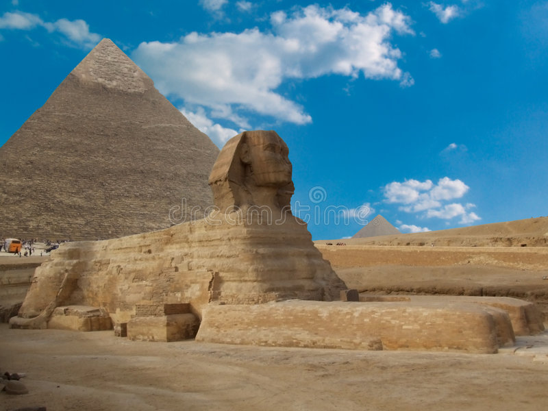 Famous sphinx. Famous great sphinx in giza , cairo , egypt stock photo