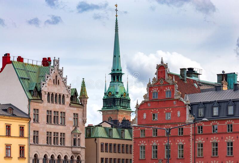Stockholm. Area Birger Jarl Borg. royalty free stock image