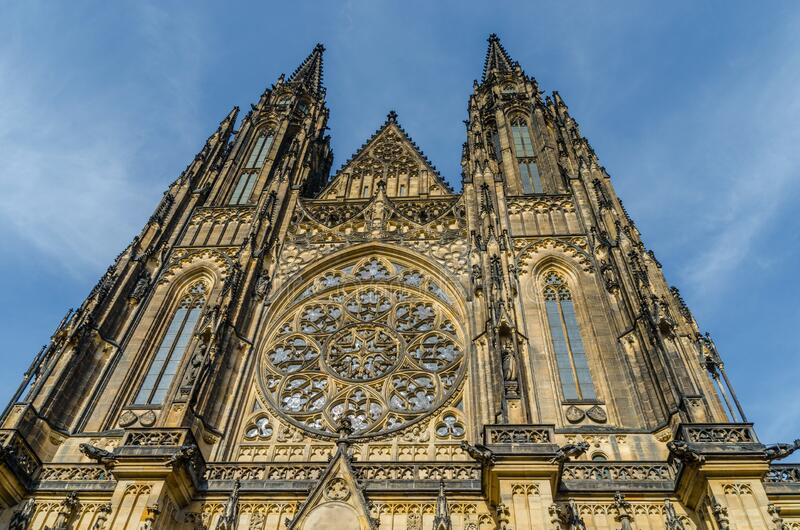Famous St Vitus Cathedral in Prague Czech Republic. In Europe royalty free stock photos