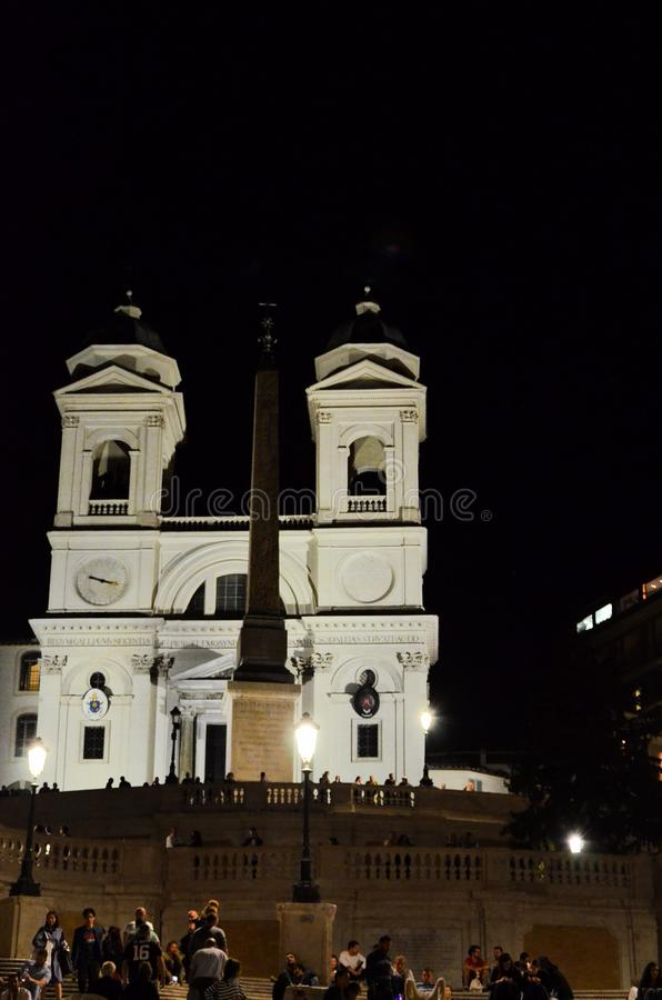 Historic church at night royalty free stock images