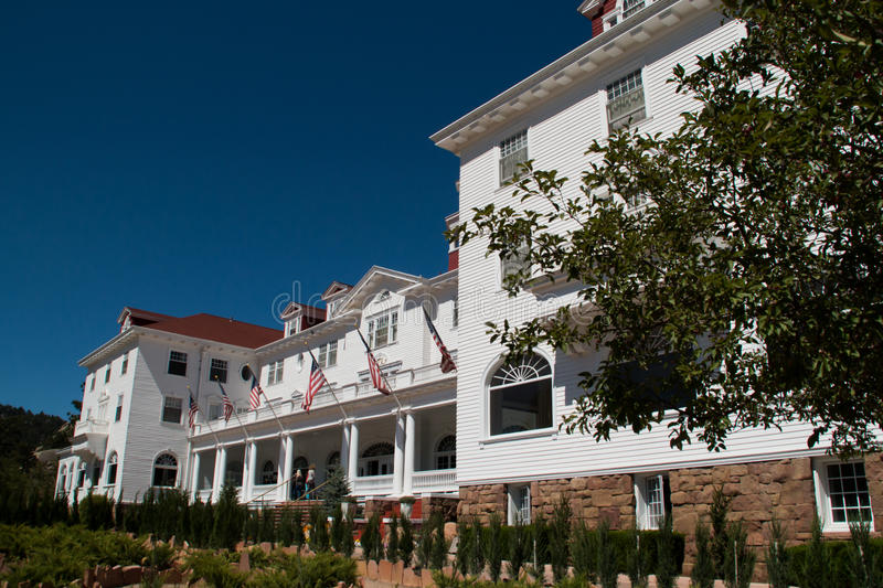 Famous Stanley Hotel in Estes Park, Colorado. The famous Stanley Hotel in Estes Park, Colorado, of the Rocky Mountain National Park was built by Freelan Oscar royalty free stock photos