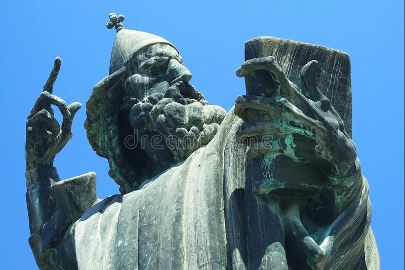 Famous statue in Croatia royalty free stock photos