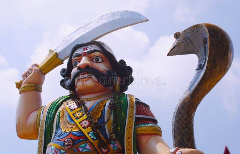The Famous Statue of Mahishasura. At Chamundi Hills,Mysore,Karnataka,India royalty free stock photo