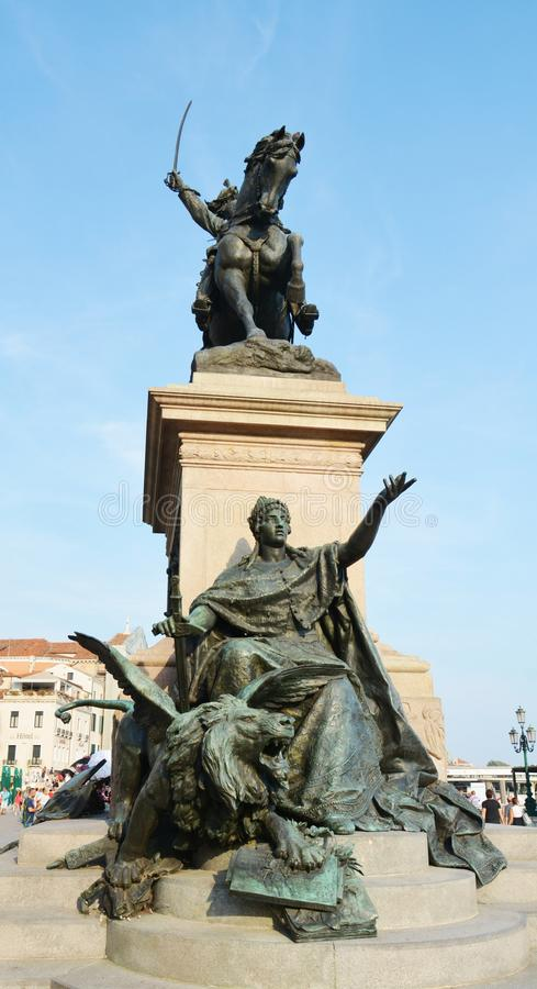 Famous statue in St. Mark's Square, Venice stock photos