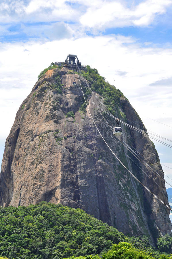 Famous Sugar Loaf mountain in Rio de Janeiro stock images