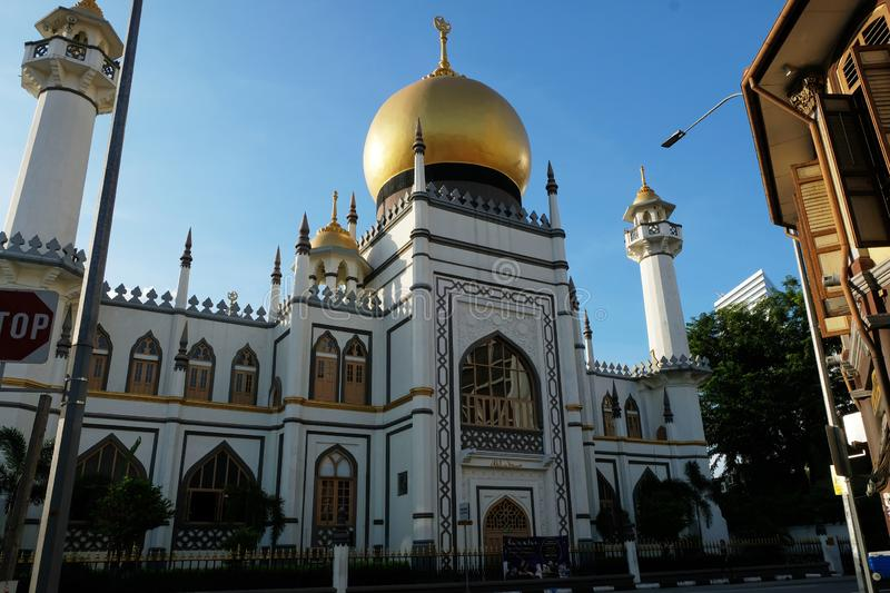 The Famous Sultan Mosque Singapore stock photo