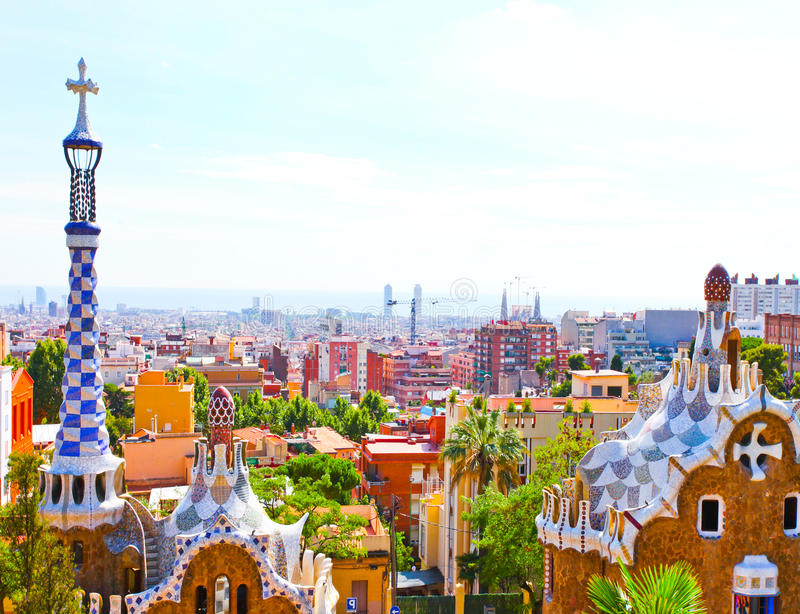 Download The Famous Summer Park Guell Royalty Free Stock Photography - Image: 27465567