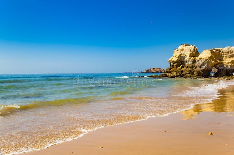 Amazing seaside landscape Algarve Portimao Portugal stock images