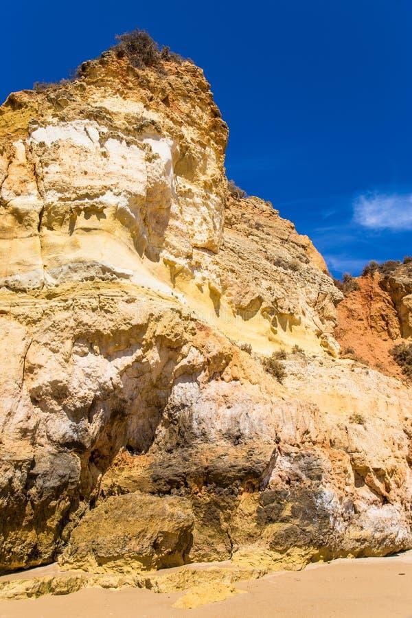 Amazing seaside landscape Algarve Portimao Portugal stock photography