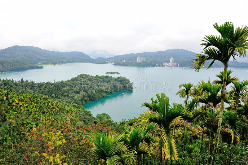 Famous Sun Moon lake in Taiwan stock images