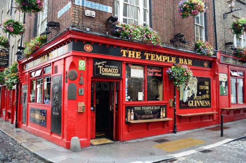 Famous Temple Bar in Dublin stock photos