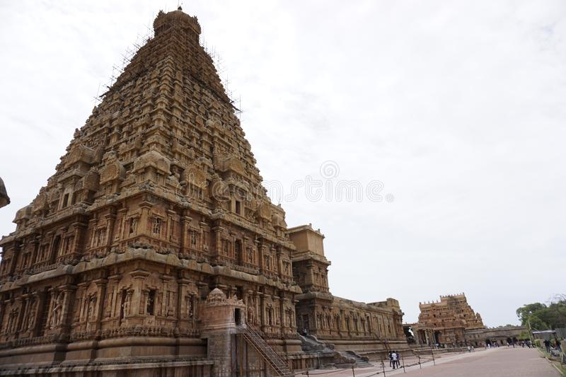 Famous Temples in India - Thanjavur Temple Image-7. This is famous Temple in the world. Located in Thanjavur Tamilnadu, India. One of the greatest King was built royalty free stock photos
