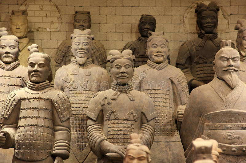The famous terracotta warriors. Of XiAn, China stock images