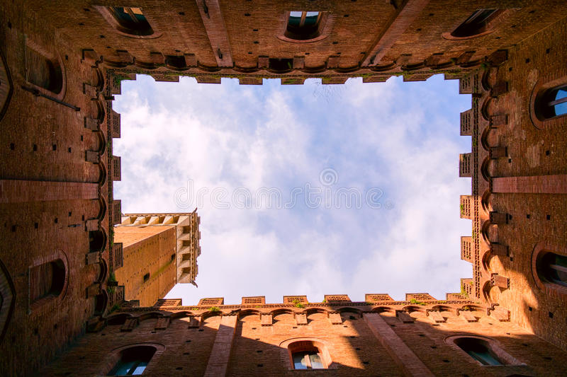 Famous Torre del Mangia royalty free stock image