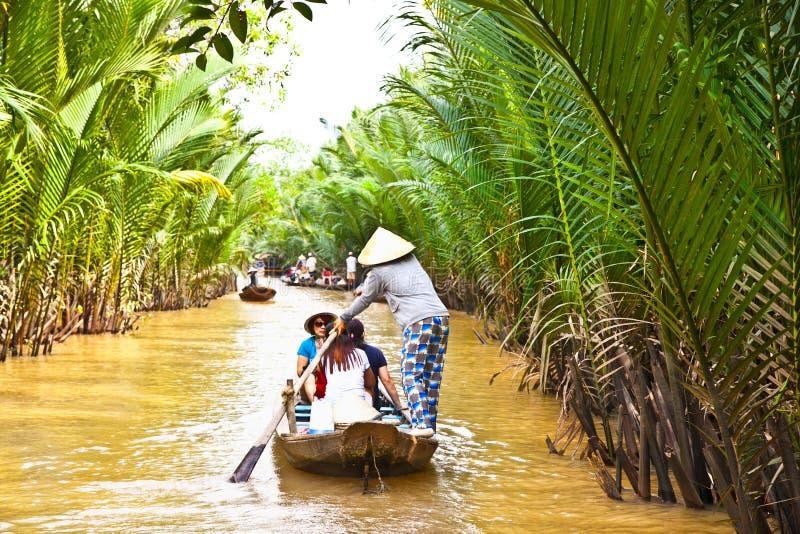 A famous tourist destination in Mekong delta , Vietnam. royalty free stock photos