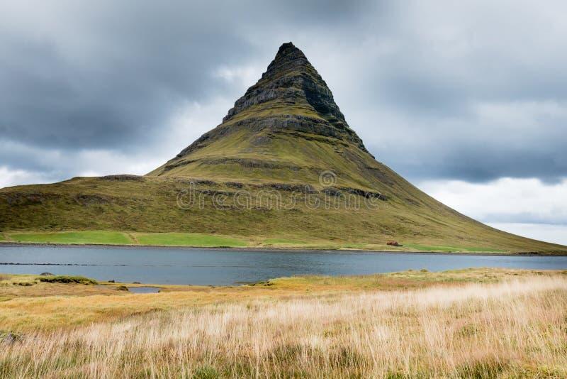 Kirkjufell mountain on Snaefellsnes peninsula Iceland royalty free stock images