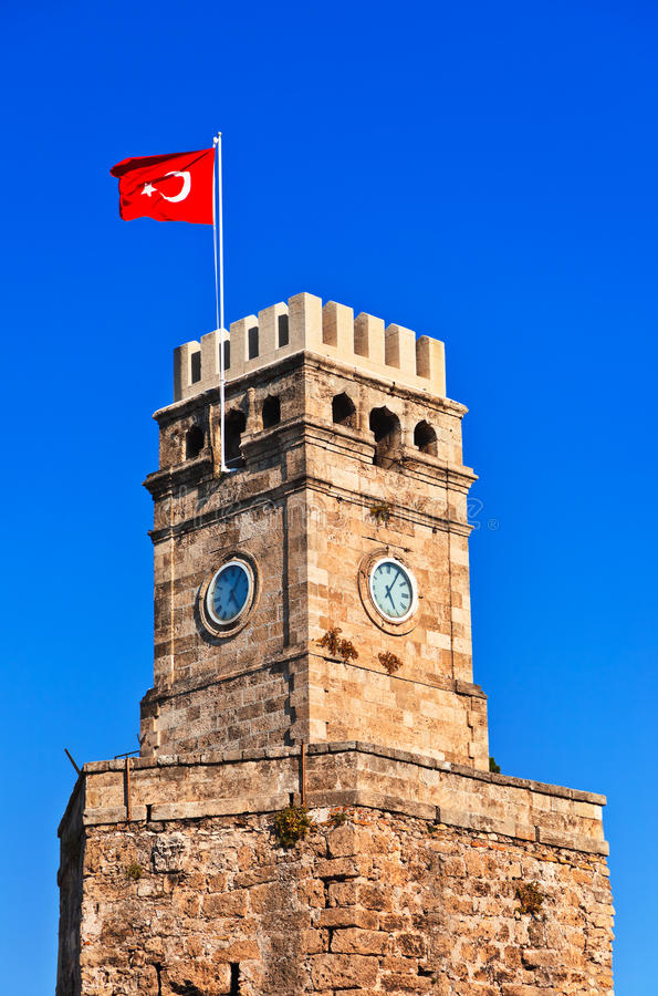 Download Famous Tower In Antalya Turkey Stock Photo - Image: 27524970